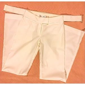 MNG Mango Cotton Belted Pants White